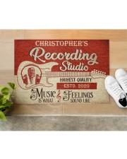 "Recording Studio DD010718NA Customize Name Doormat 34"" x 23"" aos-doormat-34-x-23-lifestyle-front-12"