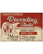 "Recording Studio DD010718NA Customize Name Doormat 34"" x 23"" front"