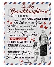 Grandma Granddaughter My Hands Blanket Comforter tile