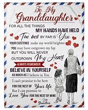 Grandma Granddaughter My Hands Blanket Fleece Blanket tile