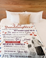 "Grandma Granddaughter My Hands Blanket Large Fleece Blanket - 60"" x 80"" aos-coral-fleece-blanket-60x80-lifestyle-front-02"