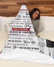 "Grandma Granddaughter My Hands Blanket Large Fleece Blanket - 60"" x 80"" aos-coral-fleece-blanket-60x80-lifestyle-front-03"