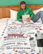 "Grandma Granddaughter My Hands Blanket Large Fleece Blanket - 60"" x 80"" aos-coral-fleece-blanket-60x80-lifestyle-front-06"