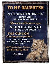 lion mom 3 Fleece Blanket tile