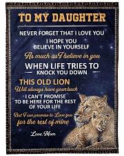"""lion mom 3 Large Fleece Blanket - 60"""" x 80"""" front"""