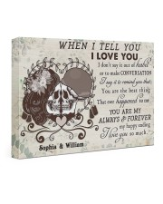 When I Tell You DD011905MA Customize Name 24x16 Gallery Wrapped Canvas Prints front