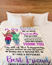 """Girls Best Friend Blanket Personalize Large Fleece Blanket - 60"""" x 80"""" aos-coral-fleece-blanket-60x80-lifestyle-front-02"""