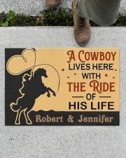 "A Cowboy DD010907NA Customize Name Doormat 34"" x 23"" aos-doormat-34-x-23-lifestyle-front-01"
