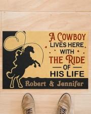 "A Cowboy DD010907NA Customize Name Doormat 34"" x 23"" aos-doormat-34-x-23-lifestyle-front-02"