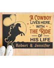 "A Cowboy DD010907NA Customize Name Doormat 34"" x 23"" aos-doormat-34-x-23-lifestyle-front-03"