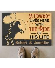 "A Cowboy DD010907NA Customize Name Doormat 34"" x 23"" aos-doormat-34-x-23-lifestyle-front-04"