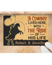"A Cowboy DD010907NA Customize Name Doormat 34"" x 23"" aos-doormat-34-x-23-lifestyle-front-05"