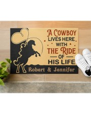 "A Cowboy DD010907NA Customize Name Doormat 34"" x 23"" aos-doormat-34-x-23-lifestyle-front-12"