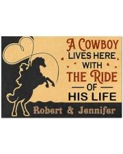 "A Cowboy DD010907NA Customize Name Doormat 34"" x 23"" front"