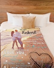 """To My Husband DD011612MA Blanket Customize Name Large Fleece Blanket - 60"""" x 80"""" aos-coral-fleece-blanket-60x80-lifestyle-front-02"""