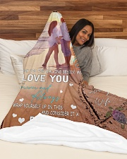 """To My Husband DD011612MA Blanket Customize Name Large Fleece Blanket - 60"""" x 80"""" aos-coral-fleece-blanket-60x80-lifestyle-front-03"""
