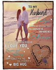 """To My Husband DD011612MA Blanket Customize Name Large Fleece Blanket - 60"""" x 80"""" front"""