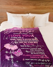 """Mom daughter - good time Large Fleece Blanket - 60"""" x 80"""" aos-coral-fleece-blanket-60x80-lifestyle-front-02"""