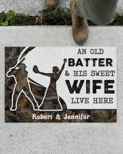 """An Old Batter DD010815NA Customize Name Doormat 34"""" x 23"""" aos-doormat-34-x-23-lifestyle-front-01"""