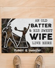 """An Old Batter DD010815NA Customize Name Doormat 34"""" x 23"""" aos-doormat-34-x-23-lifestyle-front-02"""