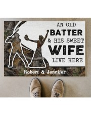 """An Old Batter DD010815NA Customize Name Doormat 34"""" x 23"""" aos-doormat-34-x-23-lifestyle-front-04"""