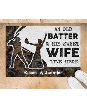 """An Old Batter DD010815NA Customize Name Doormat 34"""" x 23"""" aos-doormat-34-x-23-lifestyle-front-05"""