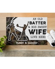 """An Old Batter DD010815NA Customize Name Doormat 34"""" x 23"""" aos-doormat-34-x-23-lifestyle-front-12"""