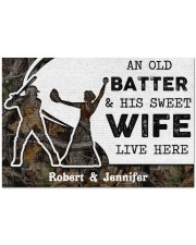 """An Old Batter DD010815NA Customize Name Doormat 34"""" x 23"""" front"""