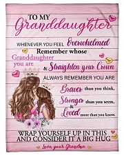 Grandmother Granddaughter Stronger Pink Blanket Fleece Blanket tile