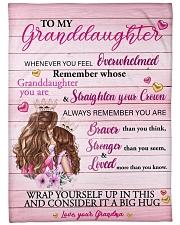 """Grandmother Granddaughter Stronger Pink Blanket Large Fleece Blanket - 60"""" x 80"""" front"""