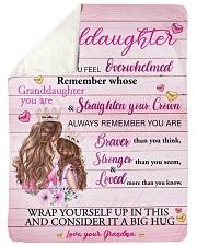 Grandmother Granddaughter Stronger Pink Blanket Sherpa Fleece Blanket tile