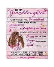 Grandmother Granddaughter Stronger Pink Blanket Quilt tile