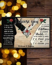 I Chose You 2 Customize Name 17x11 Poster aos-poster-landscape-17x11-lifestyle-29