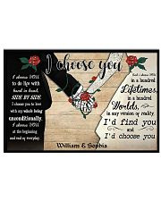I Chose You 2 Customize Name 17x11 Poster front