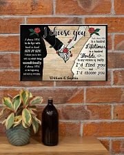 I Chose You 2 Customize Name 17x11 Poster poster-landscape-17x11-lifestyle-23