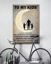 To my kids 2 girl 11x17 Poster lifestyle-poster-7