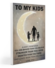 To my kids 2 girl Gallery Wrapped Canvas Prints tile