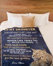 "lion 3 mom Large Fleece Blanket - 60"" x 80"" aos-coral-fleece-blanket-60x80-lifestyle-front-02"