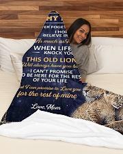 "lion 3 mom Large Fleece Blanket - 60"" x 80"" aos-coral-fleece-blanket-60x80-lifestyle-front-03"