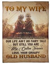To My Wife DD011605MA Blanket Customize Name Fleece Blanket tile