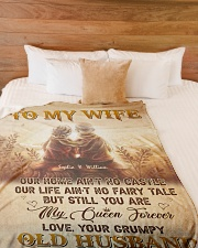 """To My Wife DD011605MA Blanket Customize Name Large Fleece Blanket - 60"""" x 80"""" aos-coral-fleece-blanket-60x80-lifestyle-front-02"""