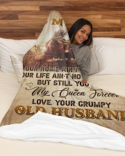 """To My Wife DD011605MA Blanket Customize Name Large Fleece Blanket - 60"""" x 80"""" aos-coral-fleece-blanket-60x80-lifestyle-front-03"""