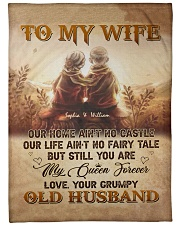 """To My Wife DD011605MA Blanket Customize Name Large Fleece Blanket - 60"""" x 80"""" front"""
