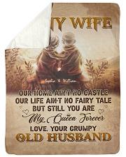 To My Wife DD011605MA Blanket Customize Name Sherpa Fleece Blanket tile