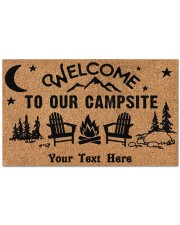 """To Our Campsite DD123110MA Customize Doormat 28"""" x 17"""" front"""