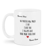 I Love You DD012504MA Customize Name Mug back