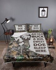 Buck And Doe DD011125MA Customize Name Queen Quilt Bed Set aos-queen-quilt-bed-set-lifestyle-front-02