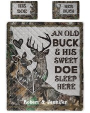 Buck And Doe DD011125MA Customize Name Queen Quilt Bed Set front