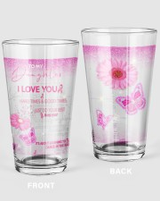 Father granddaughter Good Times Tumber Pint Glass tile