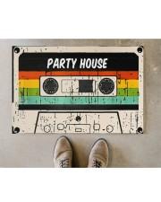 "Cassette Customize Name Doormat 22.5"" x 15""  aos-doormat-22-5x15-lifestyle-front-04"